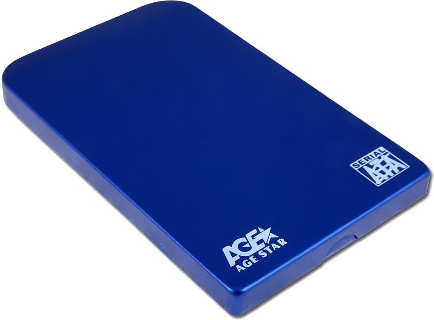 Корпус для жесткого диска AgeStar SUB2O1, miniUSB 2.0, 2.5'', Blue SUB201 blue