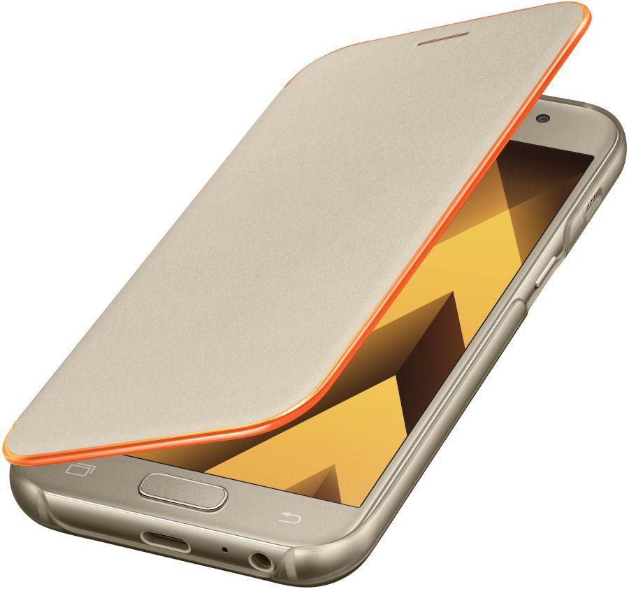 Чехол Samsung для Samsung Galaxy A3 (2017) Neon Flip Cover, golden