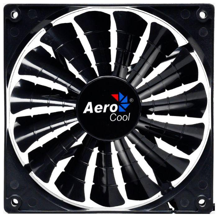Вентилятор корпусной AeroCool Shark Fan, 12cm, black 4710700955413