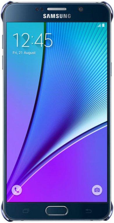 Samsung для Samsung Galaxy Note 5 Glossy Cover black/blue - (для Samsung Galaxy Note 7; 155.1 х 79.3 х 9.2 мм)