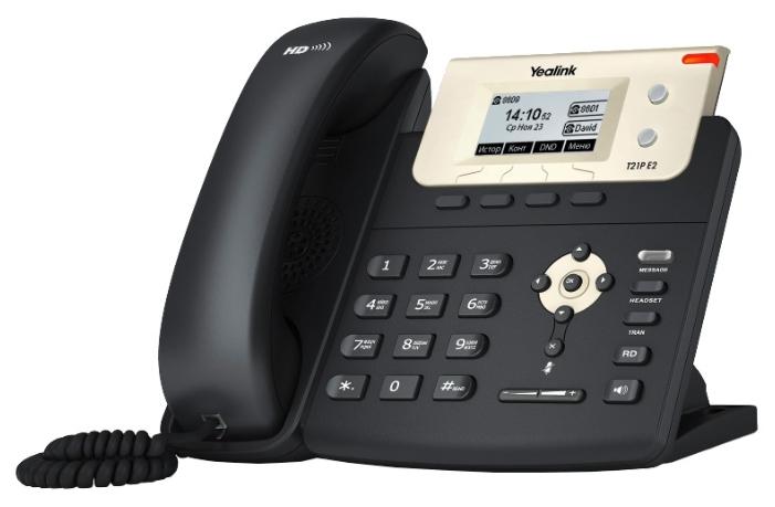 VoIP-телефон Yealink SIP-T21P E2, WAN, LAN, есть определитель номера