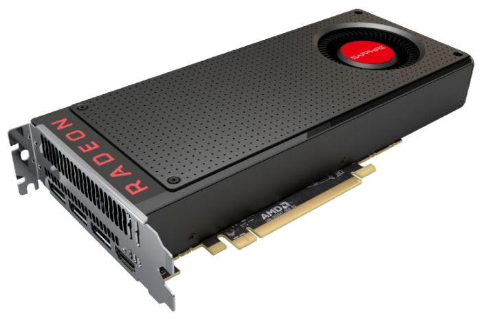 Sapphire ATI RX 480 8Gb 256Bit DDR5 21260-00-20G - (AMD Radeon RX 480, 14 нм, 1120 МГц, 8192 Мб GDDR5@8000 МГц 256 бит, TDP 150 Вт • Разъёмы: поддержка HDCP, HDMI, DisplayPort x3.)
