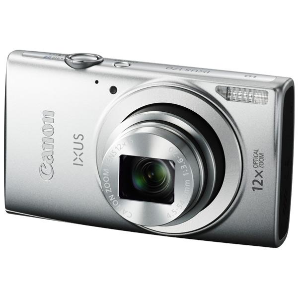 Canon IXUS 170 Silver - (20.5 млн, оптический zoom: 12x, 1280x720, 0.8 кадр./сек, 230000 точек, 2.70 дюйма)