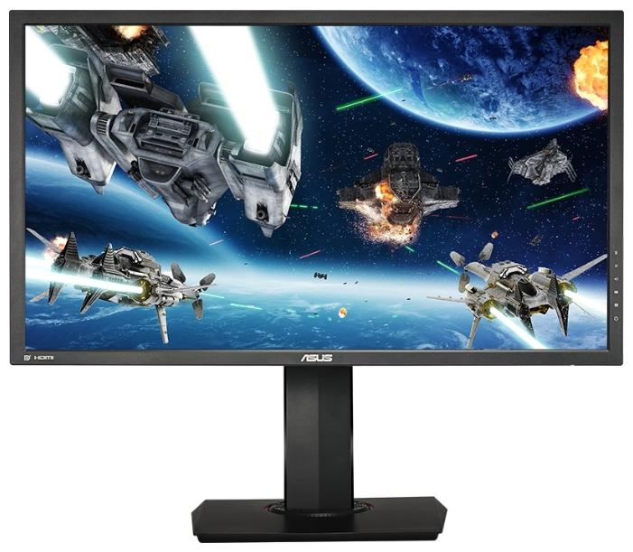 "Asus MG28UQ black - (28"", WLED, 3840x2160 (16:9), 330 кд/м2, 100000000:1, 1 мс, более 1 млрд. цветов, стереоколонки (2x2 Вт), HDMI x3, DisplayPort)"