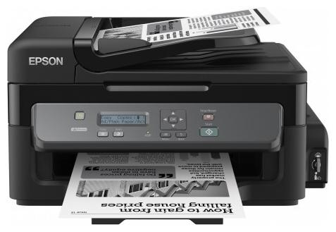 EPSON M200 - ((принтер/сканер/копир); A4; черно-белая; печать 34 стр/мин (ч/б А4) • Печать на: карточках, пленках, этикетках, глянцевой бумаге, конвертах, матовой бумаге)