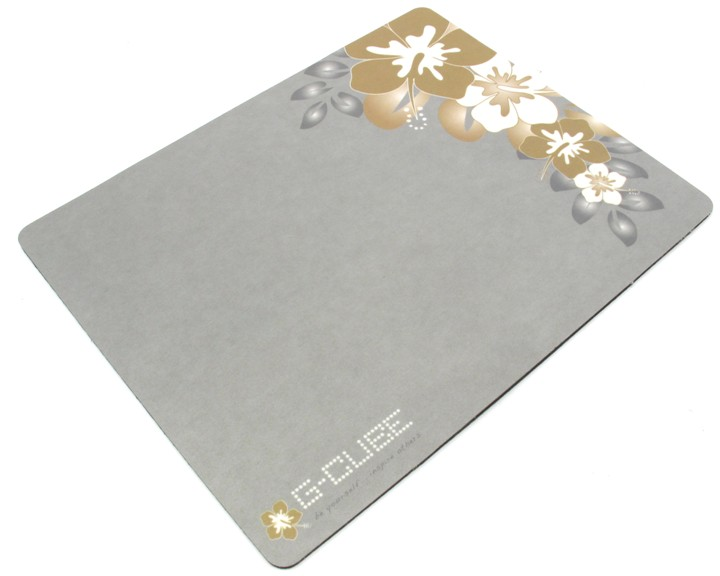 G-Cube GMA-20SR, Golden Sunrise - (пластик с антистатическим покрытием, резиновая основа; 235 x 184 x 2 мм; для мышей любого типа)