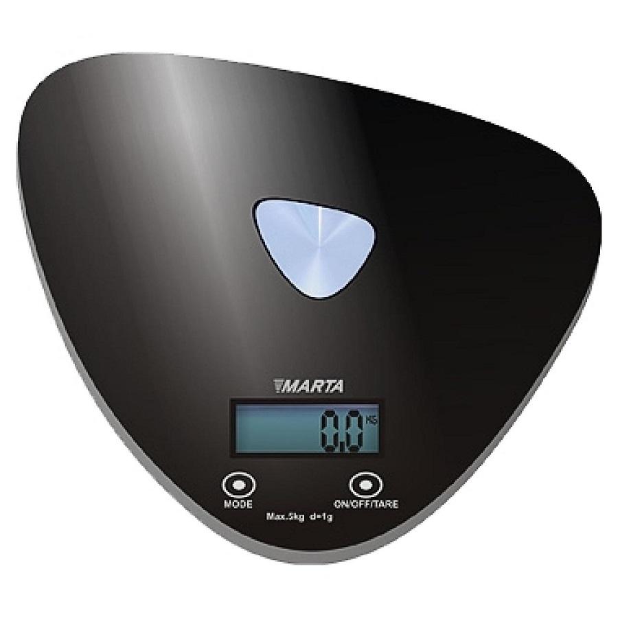 Весы кухонные Marta MT-1632, black/sparkling MT-1632 черный/блестящий