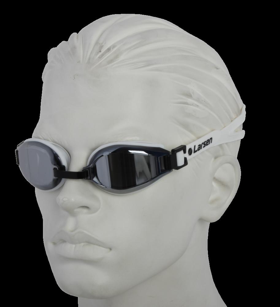 Очки плавательные Larsen R1229UV белый (силикон)