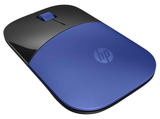 HP Z3700 Wireless Mouse Dragonfly Blue USB - оптическая светодиодная; кнопок 3; 1000 dpi; беспроводная связь есть; радиоканал; USB