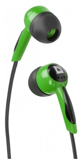 Defender BASIC 604 Black Green - (18 - 20000 Гц; 32 Ом; динамические; 85 дБ; мембрана 10 мм; подключение с проводом)