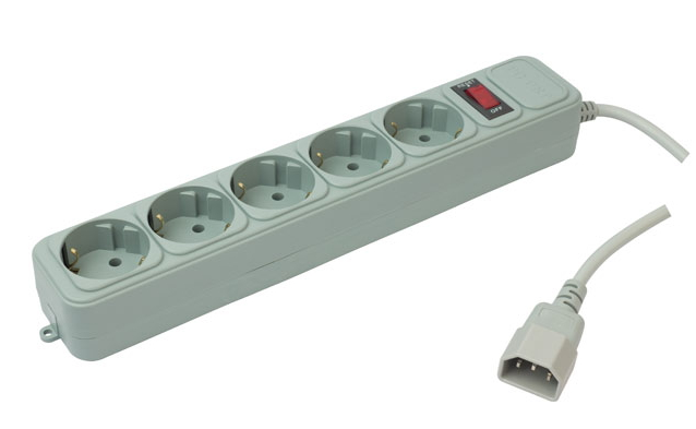 PC Pet AP01006-E-G (5 розеток, UPS-вилка, 1.8 м), Grey - Сетевой фильтр (станд.розеток 5); 1,5 КВт; 7 А; провод 1.8 метра