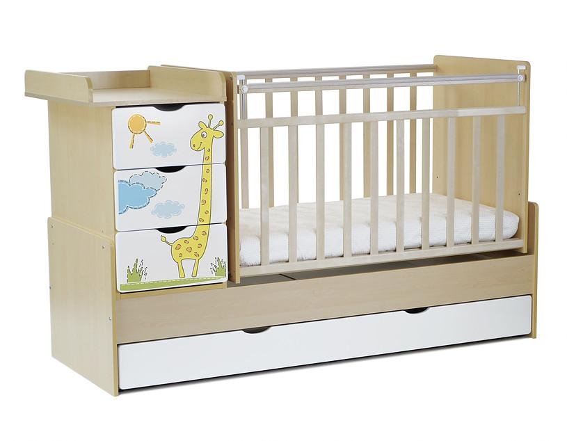 Кровать-трансформер СКВ-Компани Жираф 52003х фотопечать, birch + white