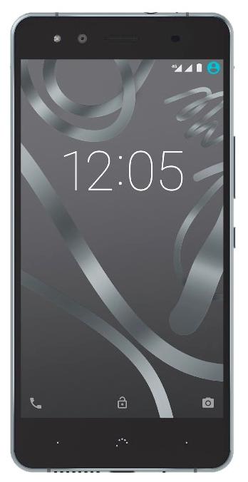 BQ Aquaris X5 2/16Gb Black/Gray Cyanogen - (; GSM 900/1800/1900, 3G, 4G LTE; SIM-карт 2 (nano SIM); Qualcomm Snapdragon 412 MSM8916T, 1400 МГц; RAM 2 Гб; ROM 16 Гб; ; 13 млн пикс., светодиодная вспышка (фронтальная и тыльная); есть, 5 млн пикс.; датчики - освещенности, приближения, Холла, гироскоп, компас)