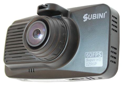 """Subini X5 - (с камерой, с экраном; 2304x1296 при 30 к/с ; каналов в/а - 1/1; CMOS 1/3"""" 5 млн пикс.; 160° (по диагонали); ночной режим есть, ИК-подсветка; 32 Мб; microSD (microSDHC) до 32 Гб; Экран 3""""; GPS-модуль нет)"""