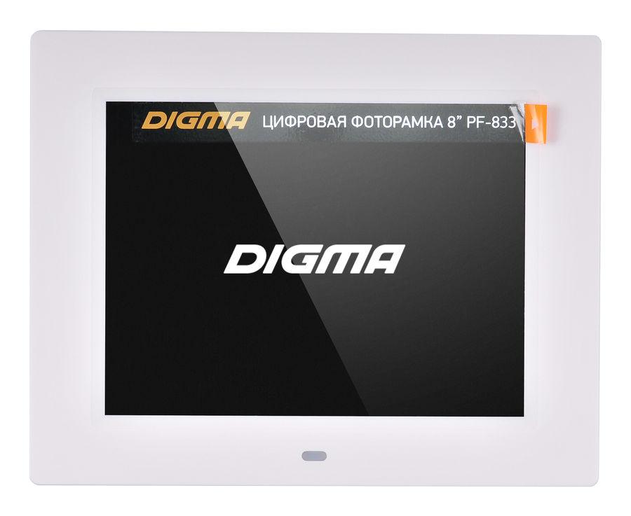 Фоторамка Digma PF-833, white PF833W
