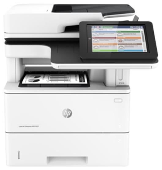 HP LaserJet Enterprise M527dn - (МФУ (принтер/сканер/копир); A4; черно-белая; печать 43 стр/мин (ч/б А4); двухсторонняя печать есть • Печать на: карточках, пленках, этикетках, глянцевой бумаге, конвертах, матовой бумаге)