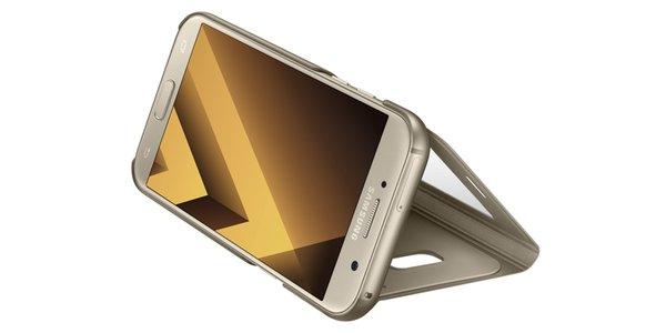 Чехол-книжка Samsung для Samsung Galaxy A5 (2017) S View Standing Cover, golden