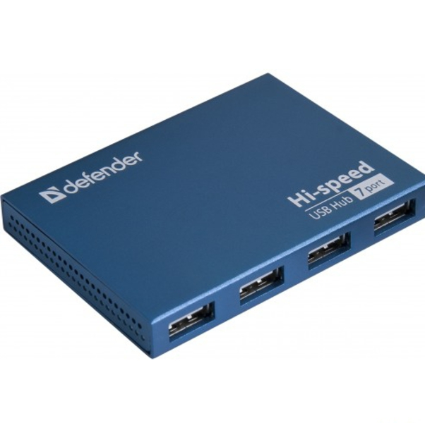 Defender SEPTIMA SLIM USB2.0 - активный; портов 7; USB 2.0 83505