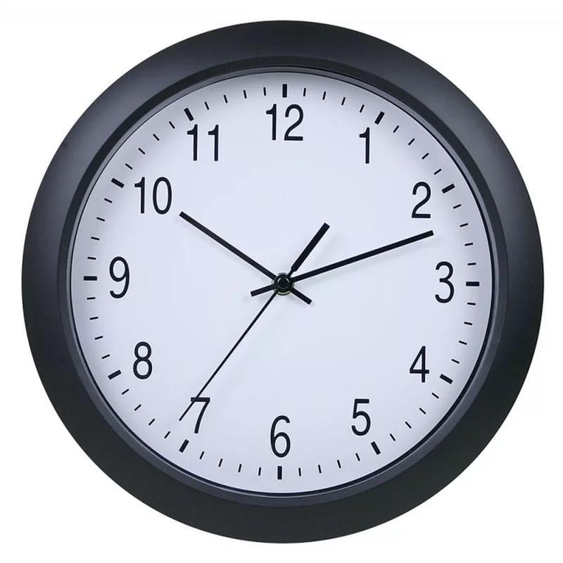 Часы настенные Бюрократ WallC-R02P, black WALLC-R02P/BLACK
