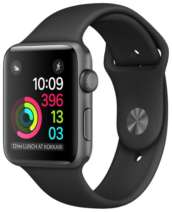 Смарт-часы Apple Watch Series 2 42mm Sp.Grey Al/Black MP062RU/A