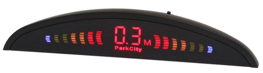 ParkCity Riga 418/106 Silver - Экран светодиодный; точность 10 см; 4 датчика • Расстояние: 2.5 м … 0.3 м