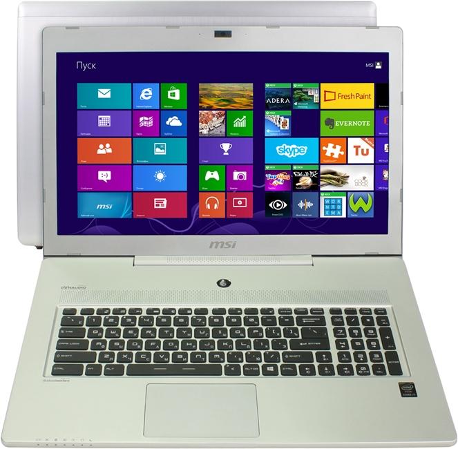 MSI GS70 2QE Stealth Pro (9S7-177311-420), Silver - (Core i7 4720HQ 2600 МГц. Экран 17.3 дюймов, 1920x1080, широкоформатный. ОЗУ 8 Гб DDR3L 1600 МГц. Накопители HDD+SSD 1128 Гб; DVD нет. GPU NVIDIA GeForce GTX 970M. ОС Win 8 64)