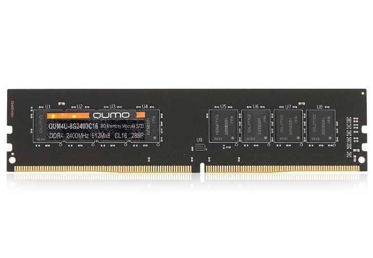 ����������� ������ QUMO QUM4U-8G2400C16, 1x 8Gb (DDR4 DIMM, 2400MHz, CL16)
