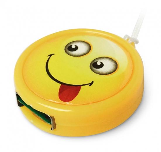 Картридер CBR - Human Friends Speed Rate 'Smile' - USB2.0, microSD, жёлтый, с ремешком CR Smile