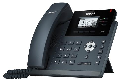 VoIP-телефон Yealink SIP-T40P, WAN, LAN, 3 линии, есть определитель номера