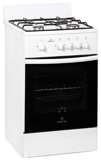 Плита газовая Greta 1470 исп №21, white 1470 исп №21 (белая)