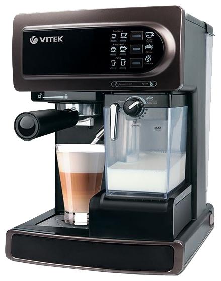 VITEK VT-1517 - эспрессо, полуавтоматическое приготовление; кофе - молотый; резервуар 1.65 л; макс.давление 15 бар; групп - 1; таймер