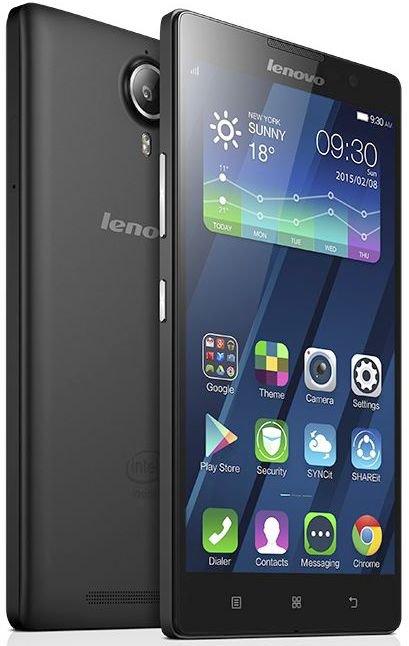 Lenovo IdeaPhone P90 Single, Black - (Android 4.4; GSM 900/1800/1900, 3G, 4G LTE, LTE-A Cat. 4; SIM-карт 1 (Micro SIM); Intel Atom Z3560, 1830 МГц; RAM 2 Гб; ROM 32 Гб; 4000 мАч; 13 млн пикс., светодиодная вспышка; есть, 5 млн пикс.; датчики - освещенности, приближения)