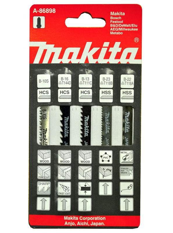 Полотна пильные Makita A-86898, 5 шт.