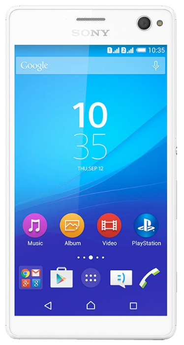 Sony Xperia C4 Dual, White - (Android 5.0; GSM 900/1800/1900, 3G, 4G LTE; SIM-карт 2; MediaTek MT6752, 1700 МГц; RAM 2 Гб; ROM 16 Гб; 2600 мАч; 13 млн пикс., светодиодная вспышка; есть, 5 млн пикс.)