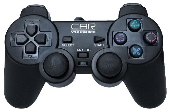 CBR CBG 950 для PC\PS2\PS3 - проводной геймпад для ПК, PS3, PS2; USB+Game-порт; кнопок 12; джойстиков 2; крестовина (D-pad) есть; виброотдач