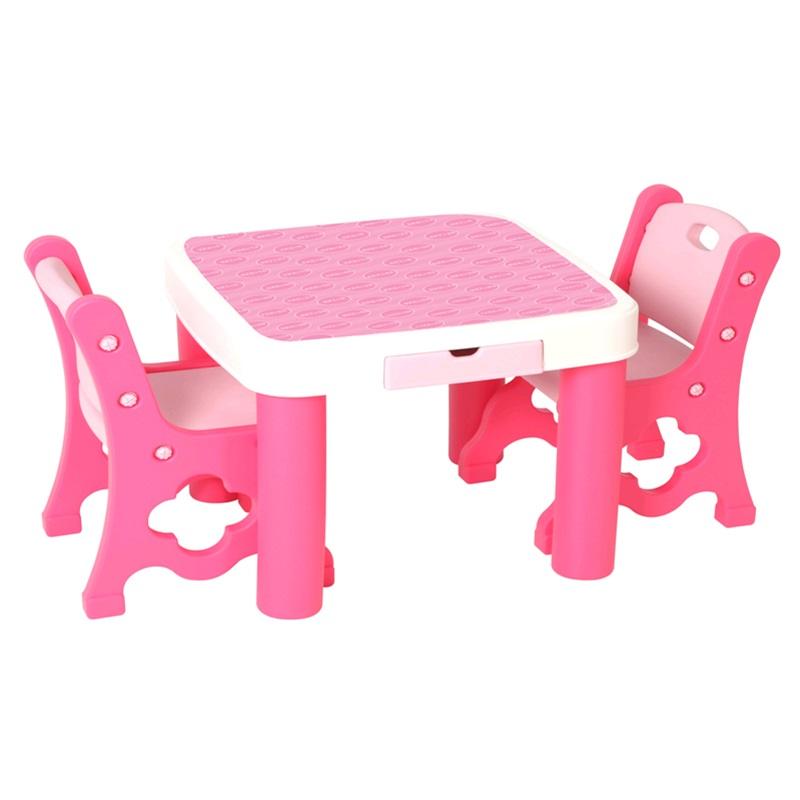Edu-play Стол+стул розовый
