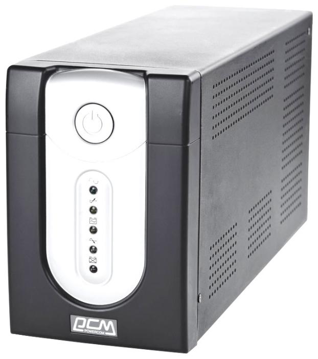 Powercom IMP-1025AP - интерактивный; 1025 ВА / 615 Вт; вход 165 - 275 В; розеток 6 (из них с питанием от батарей - 4); USB IMP-1K0A-6C0-244P