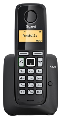 Радиотелефон Gigaset A220, Black S30852-H2411-S301