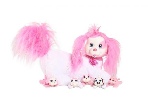Мягкая игрушка Just Play Собачка Рокси и ее щенки, pink 42107