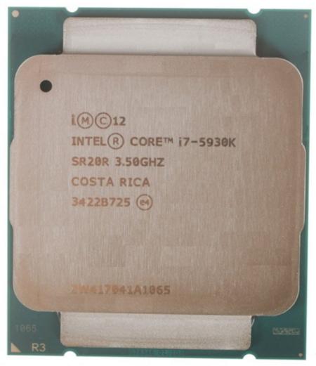 Процессор Intel Core i7-5930K Haswell-E (3500MHz, LGA2011-3, L3 15360Kb), OEM
