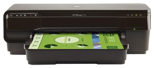 HP Officejet 7110 - (A3; печать цветная; термическая струйная • Интерфейсы: Ethernet (RJ-45), Wi-Fi, 802.11n, USB 2.0 • Печать на: карточках, пленках, этикетках, фотобумаге, глянцевой бумаге, конвертах, матовой бумаге)
