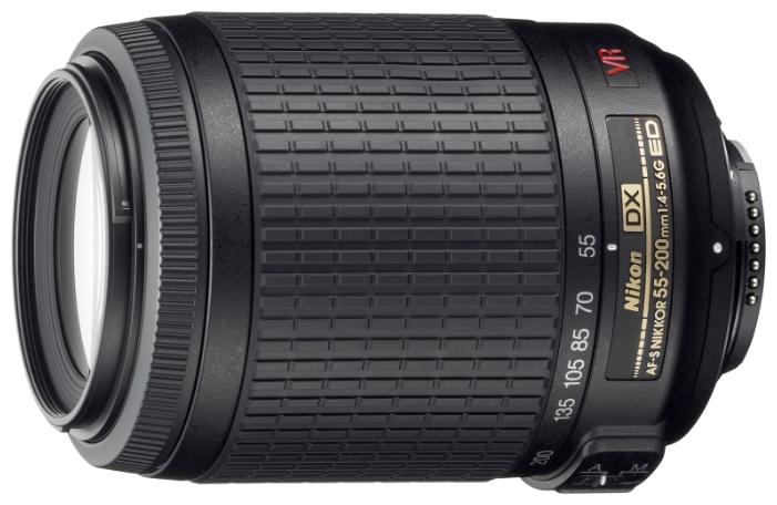 Фотообъектив Nikon 55-200mm f/4-5.6G AF-S DX VR IF-ED Zoom-Nikkor JAA798DA