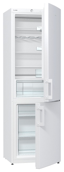 Gorenje RK6191AW (512394) - (холодильник с морозильником, 321 л (клим.класс N, T), отдельно стоящий, компрессоров 1, камер 2, дверей 2. Хол-ник 225,5 л (разм. капельная система). Мор-ник 96 л, внизу (разм. ручное). ШГВ 60x64x185 см. Управление электромеханическое. Энергопотр-е класс A+ (309 кВтч/год). белый / пластик)