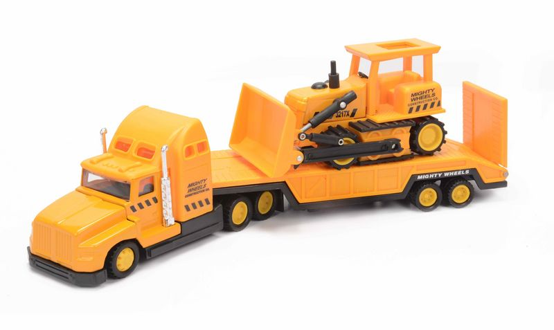 Машинка Soma строительная техника перевозчик + бульдозер 78428