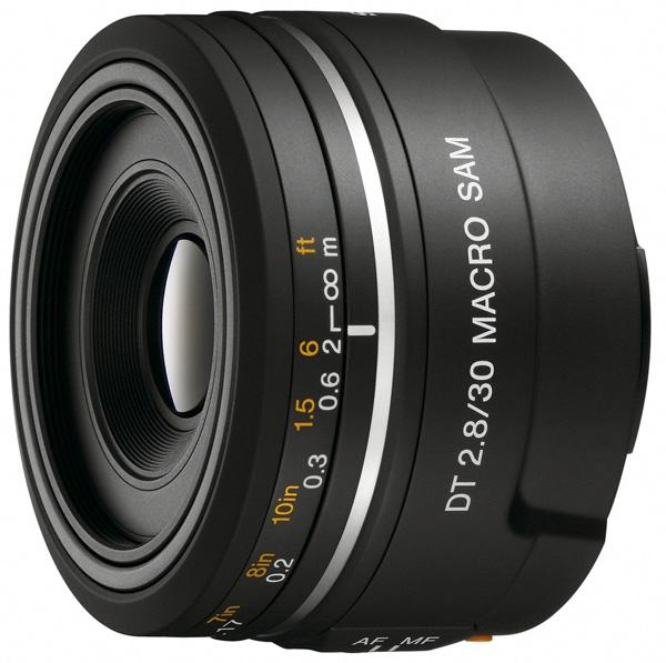 Sony SAL-30M28 - (макрообъектив; ФР 30 мм; F2.80 • Автофокус есть. Макрорежим есть. • Неполнокадровый да)