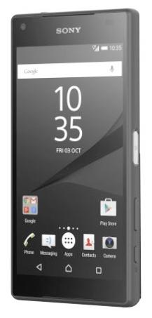 Sony Xperia Z5 Compact, Black - (Android 5.1; GSM 900/1800/1900, 3G, 4G LTE, LTE-A Cat. 6; SIM-карт 1 (nano SIM); Qualcomm Snapdragon 810; RAM 2 Гб; ROM 32 Гб; 2700 мА?ч; 23 млн пикс.; есть, 5 млн пикс.; датчики - считывание отпечатка пальца)