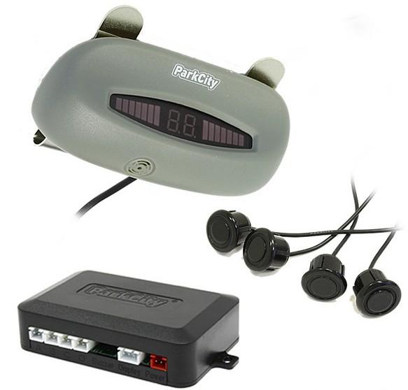 ParkCity Sydney 420/104 Black - (Экран светодиодный, сегментный; точность 10 см; 4 датчика • Расстояние: 2.5 м … 0.3 м)