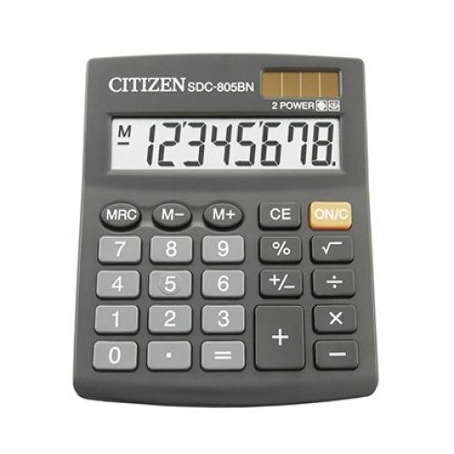 Калькулятор Citizen SDC-805BN 8-разрядный, black