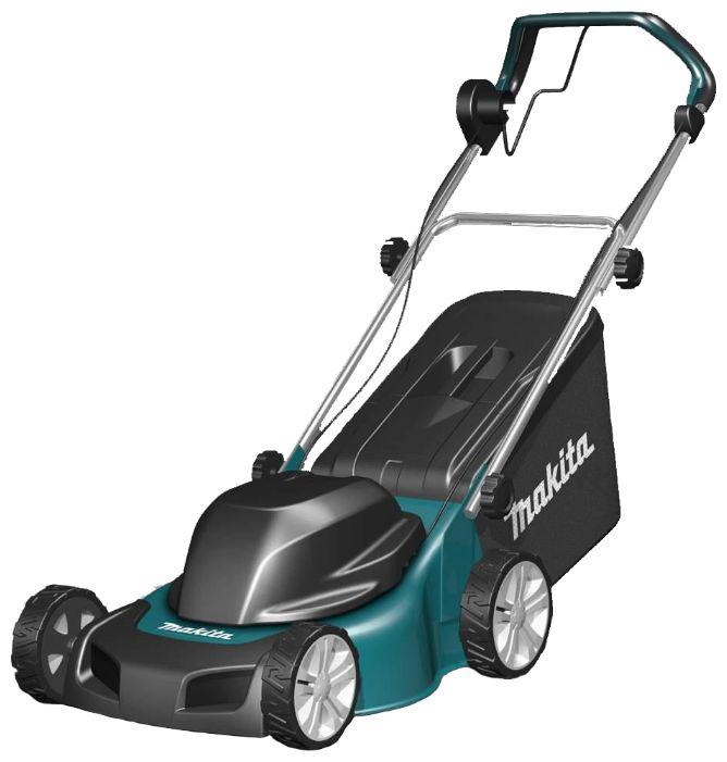 Makita ELM4110 - газонокосилка; ширина скашивания 41 см • Двигатель: электрический, 1600 Вт
