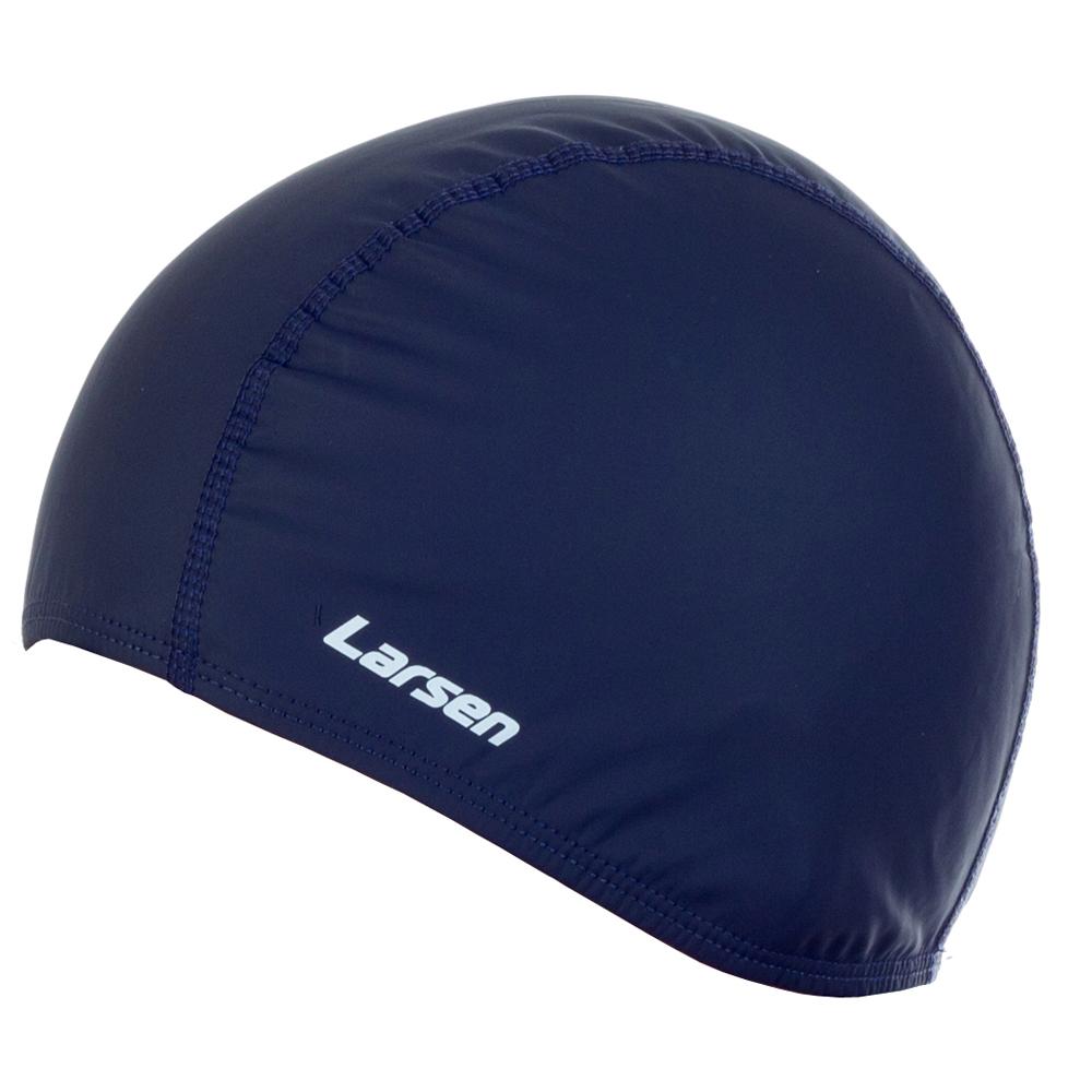 Шапочка плавательная Larsen 3059, эластан, синий